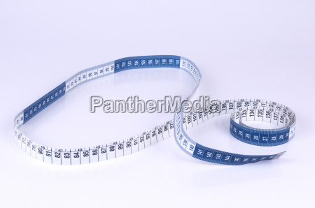 blue and white measuring tape on