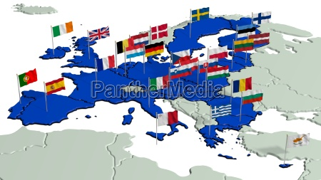 european union with national flags 1