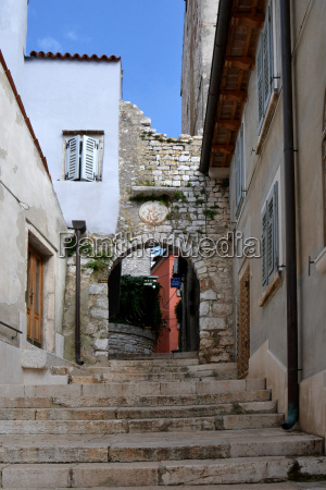 old town croatia istria medieval circular