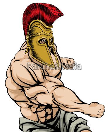 spartan punching