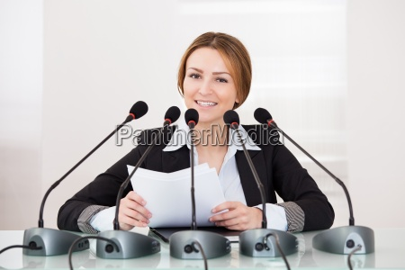 businesswoman in conference