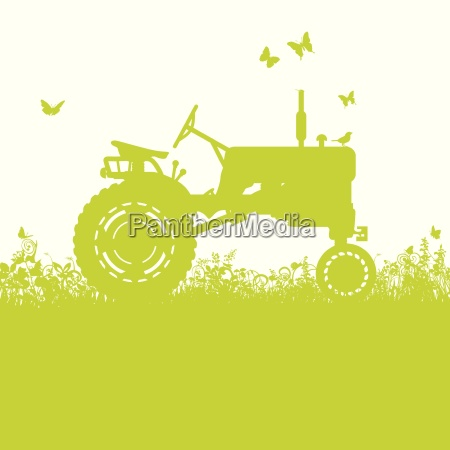tractor on the meadow