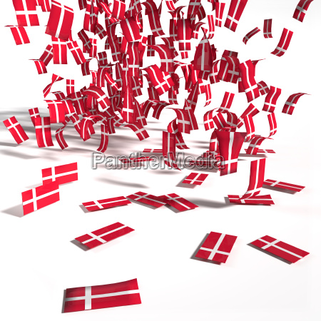 many labels and flags from denmark