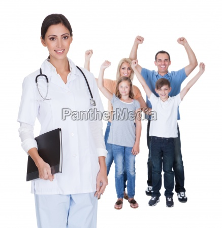 portrait of young family doctor