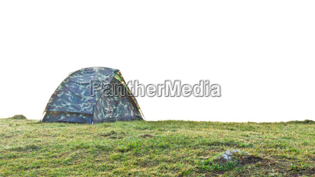 tent camping at grass on the