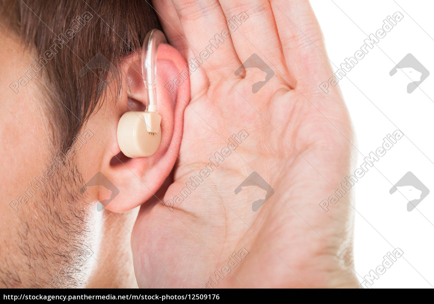 ear, with, hearing, aid - 12509176