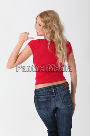 woman turning her back to camera