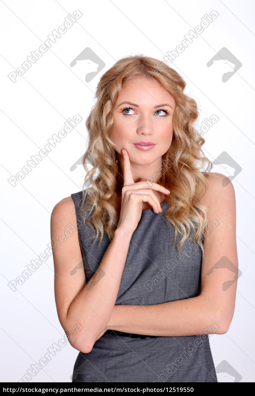 businesswoman, with, interrogative, look - 12519550