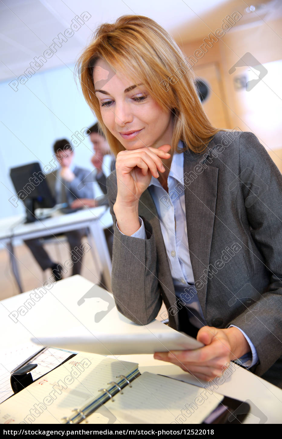 businesswoman, in, office, using, electronic, tablet - 12522018
