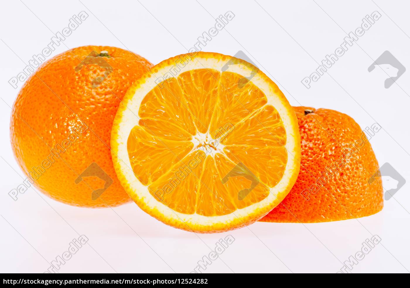 cut, fruit, of, orange, isolated, on - 12524282