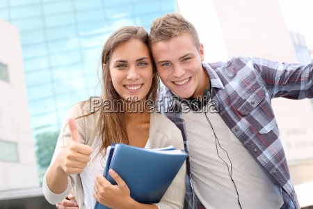 happy, students, at, university, campus - 12529252