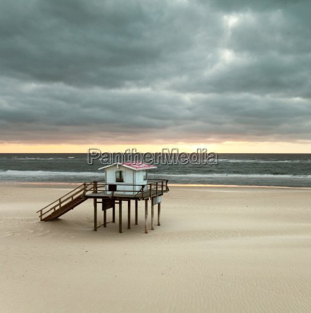 lifeguard house on the beach of