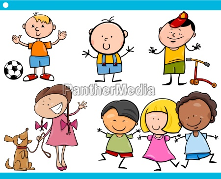 cute, little, children, cartoon, set - 12532806