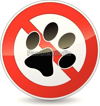 vector no pets sign