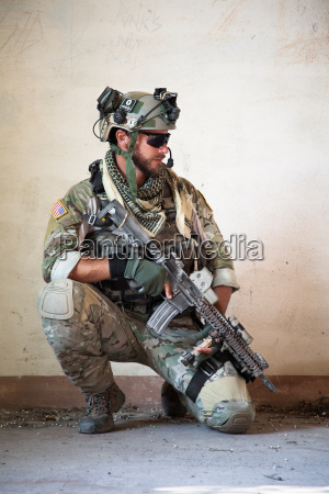 american, soldier, resting, from, military, operation - 12537304