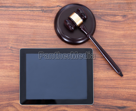 judge mallet on block by digital