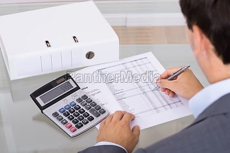 accountant calculating finances