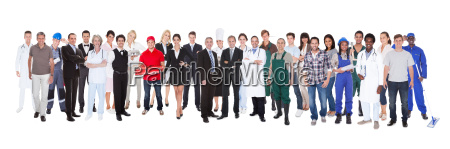 full length of people with different