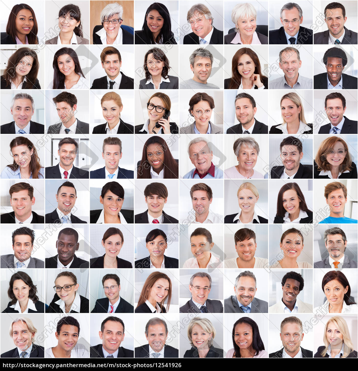 collage, of, business, people, smiling - 12541926