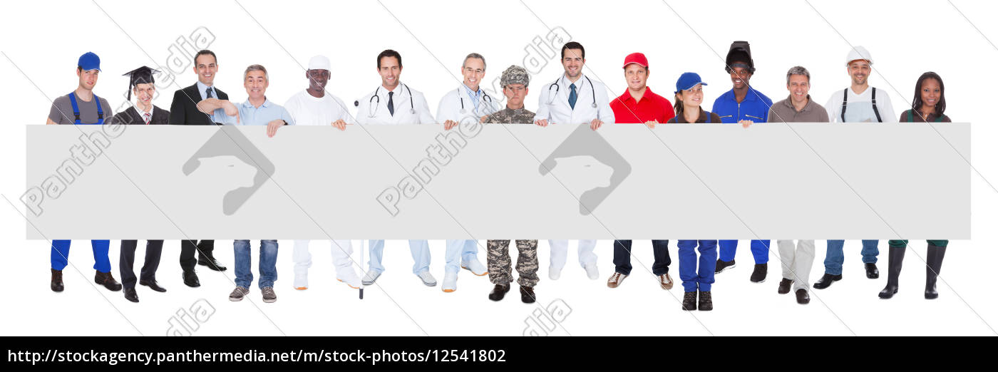 smiling, people, with, various, occupations, holding - 12541802