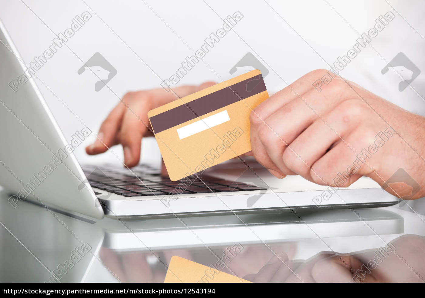 man, shopping, with, credit, card, and - 12543194