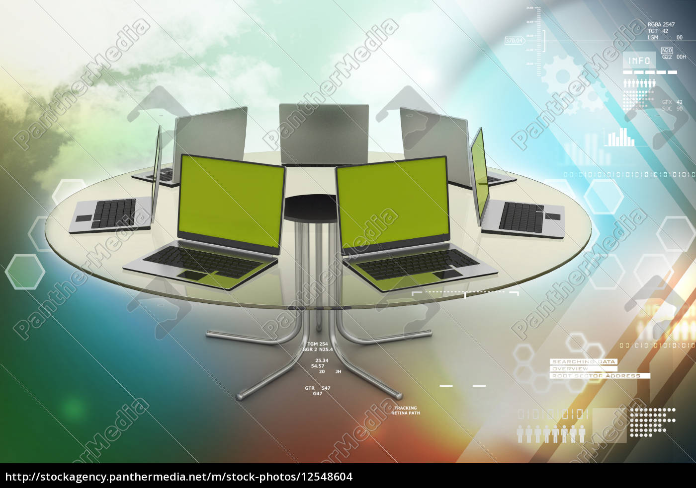 laptop, around, the, table - 12548604