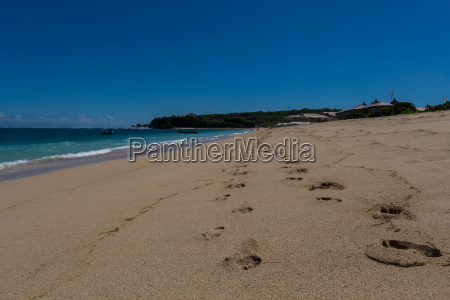 beautiful secluded sandy beach in the