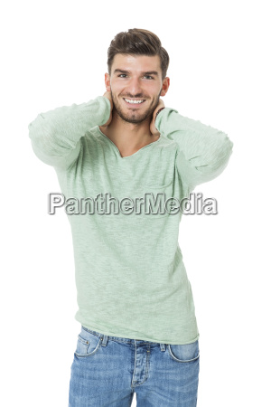 handsome young man in casual clothes