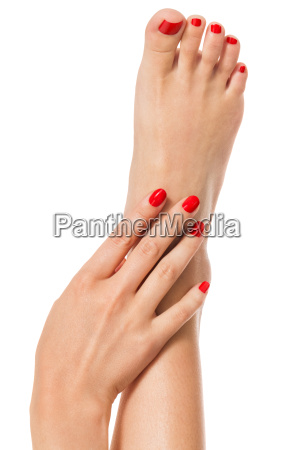 woman with beautiful neatly groomed red