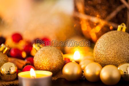 warm golden and orange candlelit christmas