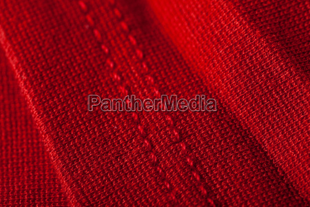structure of a red soft fabric