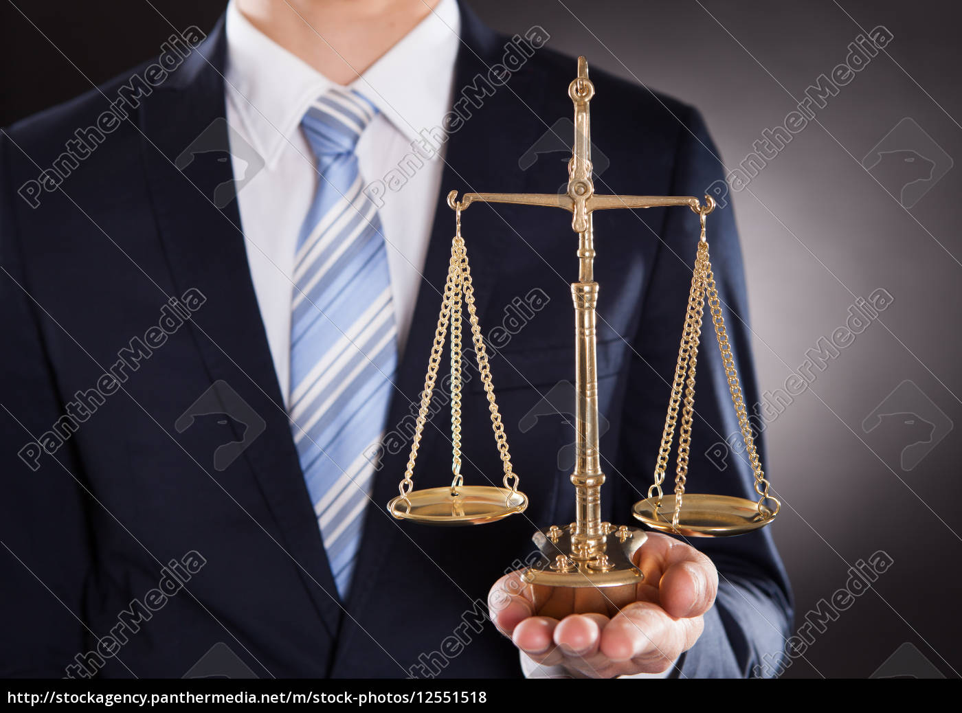 businessman, holding, justice, scale - 12551518