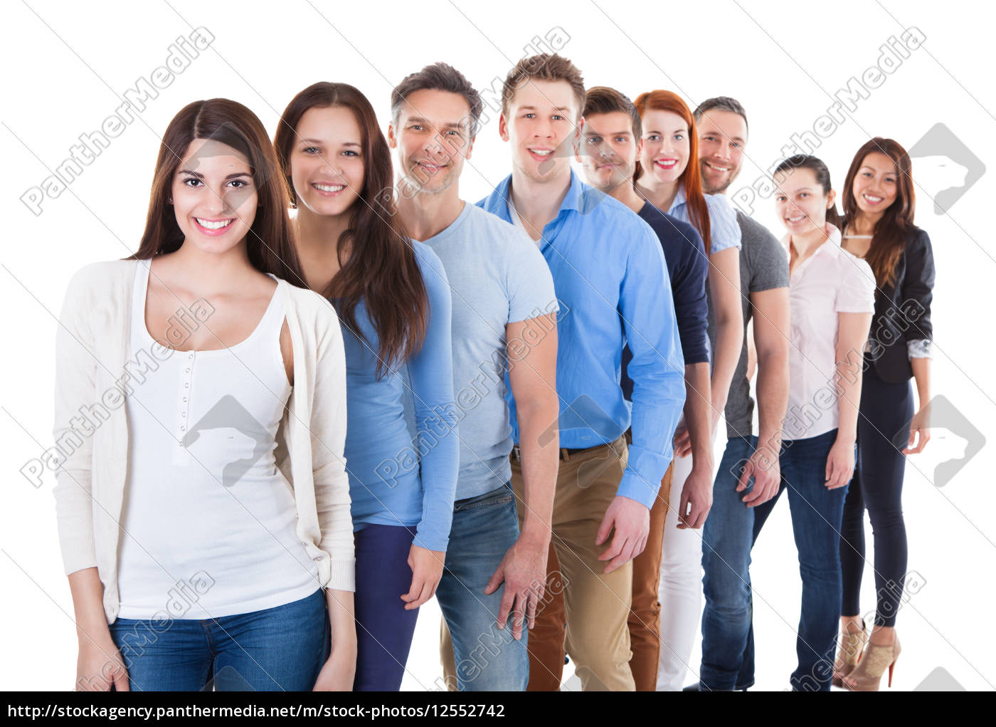 diverse, group, of, people, standing, in - 12552742
