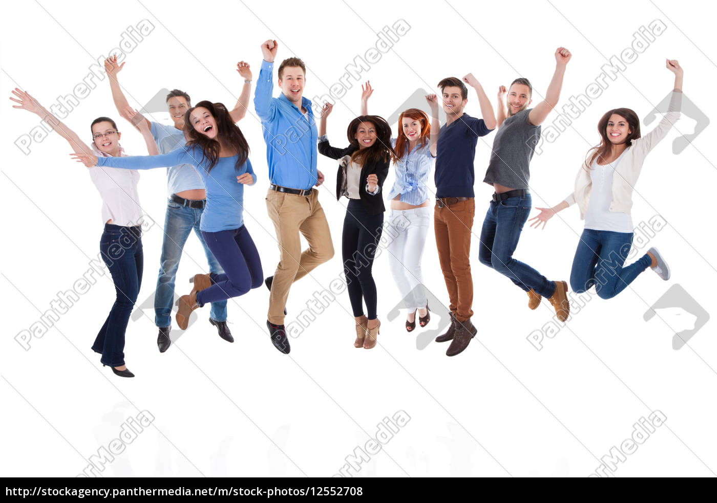 group, of, diverse, people, raising, arms - 12552708