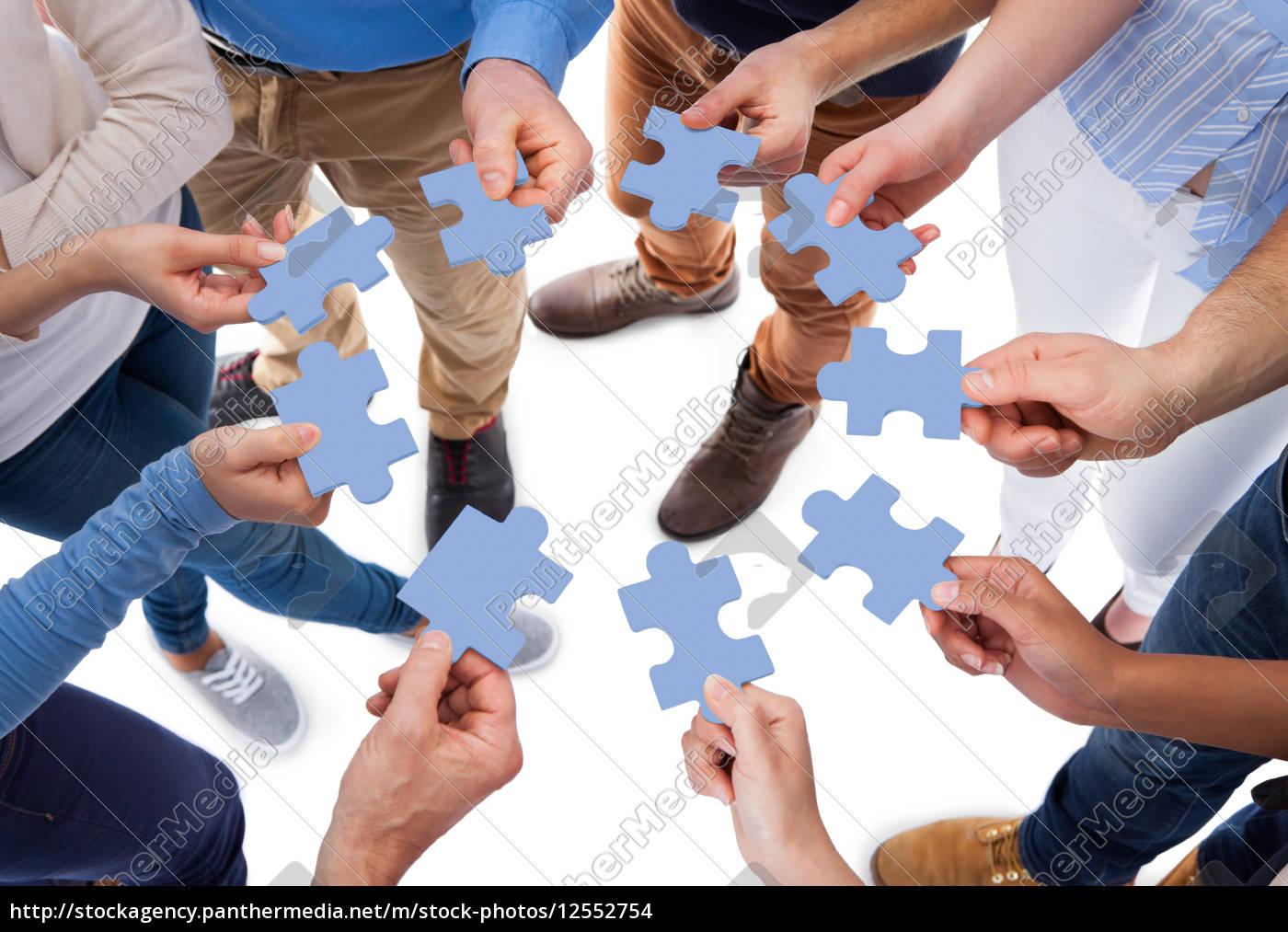 group, of, people, connecting, puzzle, pieces - 12552754
