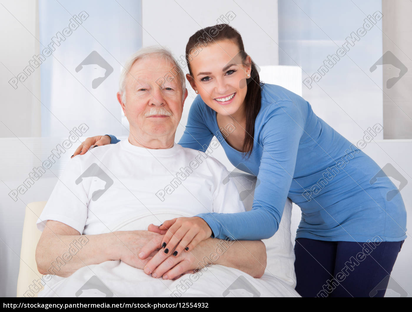 caregiver, consoling, senior, man - 12554932
