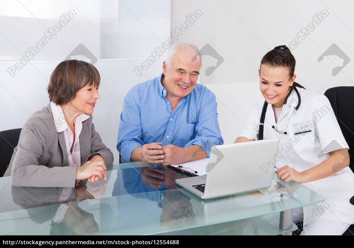 senior, couple, consulting, doctor - 12554688