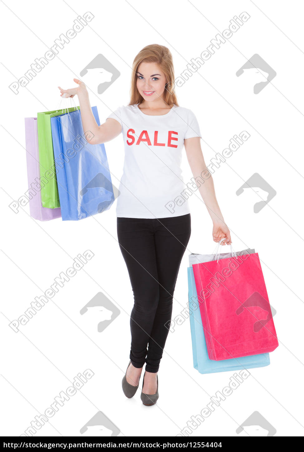 woman, holding, shopping, bags - 12554404