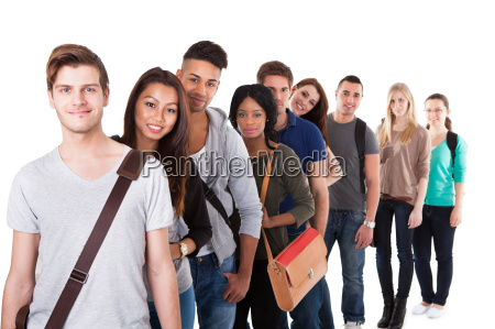 confident college students standing in a