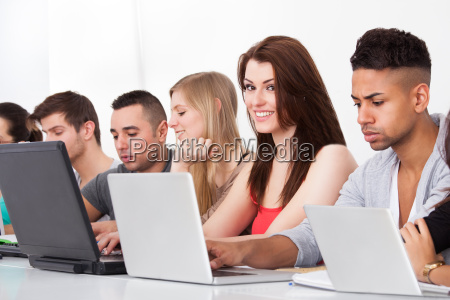 college, students, using, laptops - 12555758