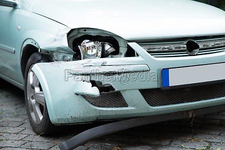broken car on street