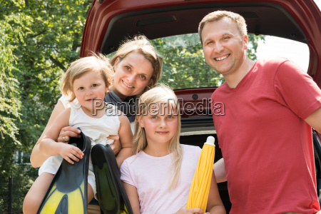 happy, family, traveling, by, car - 12556260
