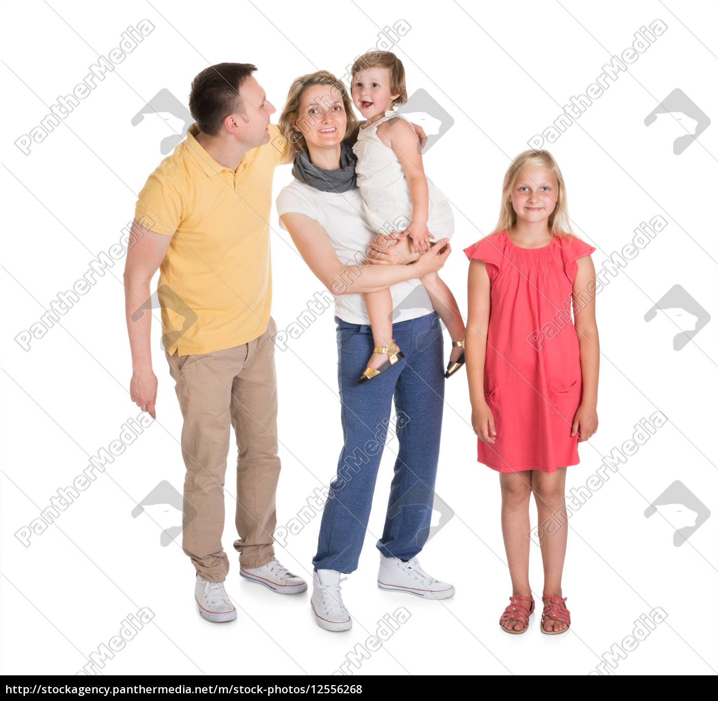 happy, young, family, together, with, kids - 12556268