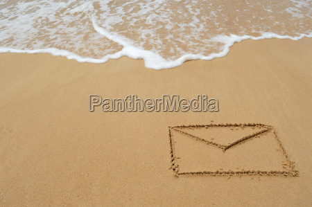 envelope in the sand
