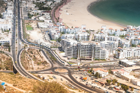 city view of agadir morocco