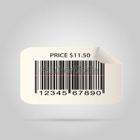 barcode sticker illustration