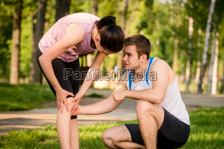 sport knee injured