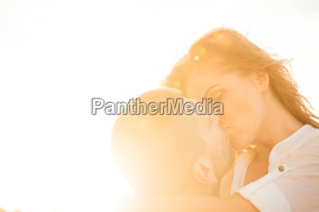 couple in love kiss