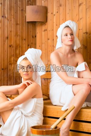 girlfriends in the wellness spa enjoy
