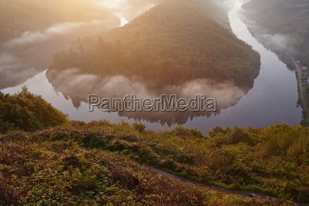 mettlach saar loop at sunrise